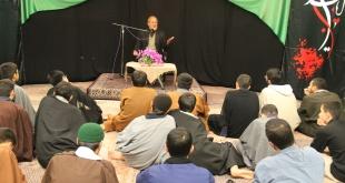 مراسم هیأت هفتگی با سخنرانی استاد محمدعلی رامین
