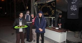 برپایی ایستگاه صلواتی به مناسبت شهادت حضرت زهرا سلام الله علیها