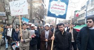 شرکت طلاب و اساتید حوزه علمیه امام خامنه ای ارومیه در راهپیمایی ۲۲ بهمن