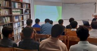 نخستین جلسه کارگاه علمی-انگیزشی آشنایی با علوم و کتب حوزوی برای طلاب دوره اختبار و تثبیت توسط حجت الاسلام دکتر شیری